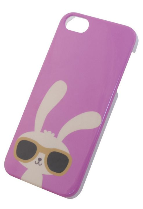Tortoise™ Hard Protective Case, iPhone 5/5S. Pink with Rabbit Design