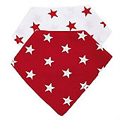 Baroo Fashion Bibs Pack of 2 (Red Stars and White Stars)