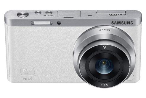 Samsung NX Mini SLR Camera, White, 20.5MP, 3inch LCD Touch Screen, Wi-Fi