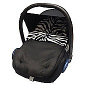 Fit Animal Print Padded Car Seat Footmuff/Cosy Toes Zebra