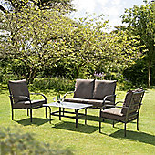 4 Piece Garden and Conservatory Set - Brown