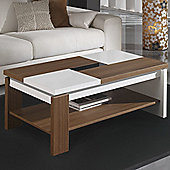 Gallego Sanchez Concept Coffee Table - Walnut and White