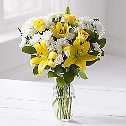 White & Yellow Glow Bouquet