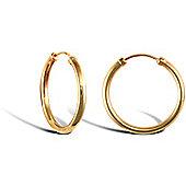 9ct Yellow Gold Hoop Earrings - 18.2mm