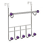 Premier Housewares Over Door Coat Hanger - Purple