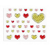Bling Sticker Small Hearts