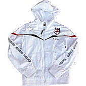 Respect England Kids Football Rain Jackets - White
