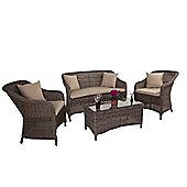 Orlando Round Weave Rattan Sofa Set - Outdoor/Garden table and Chair set.