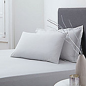 200 Percale Stone Fitted Sheet Super King