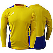 Ziland Team Football Shirt Long Sleeve - Yellow