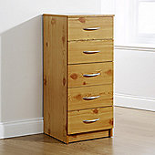Elements Kirkland 5 Drawer Tallboy Chest - Pine