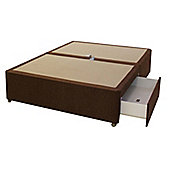 Sweet Dreams Amber Small Double, Platform Top, 2 Drawer, Divan - Dali Plain Brown