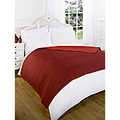 Dreamscene Reversible Quilted Throw Red - 150x200cm