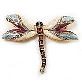 Exotic Enamel Dragonfly Brooch