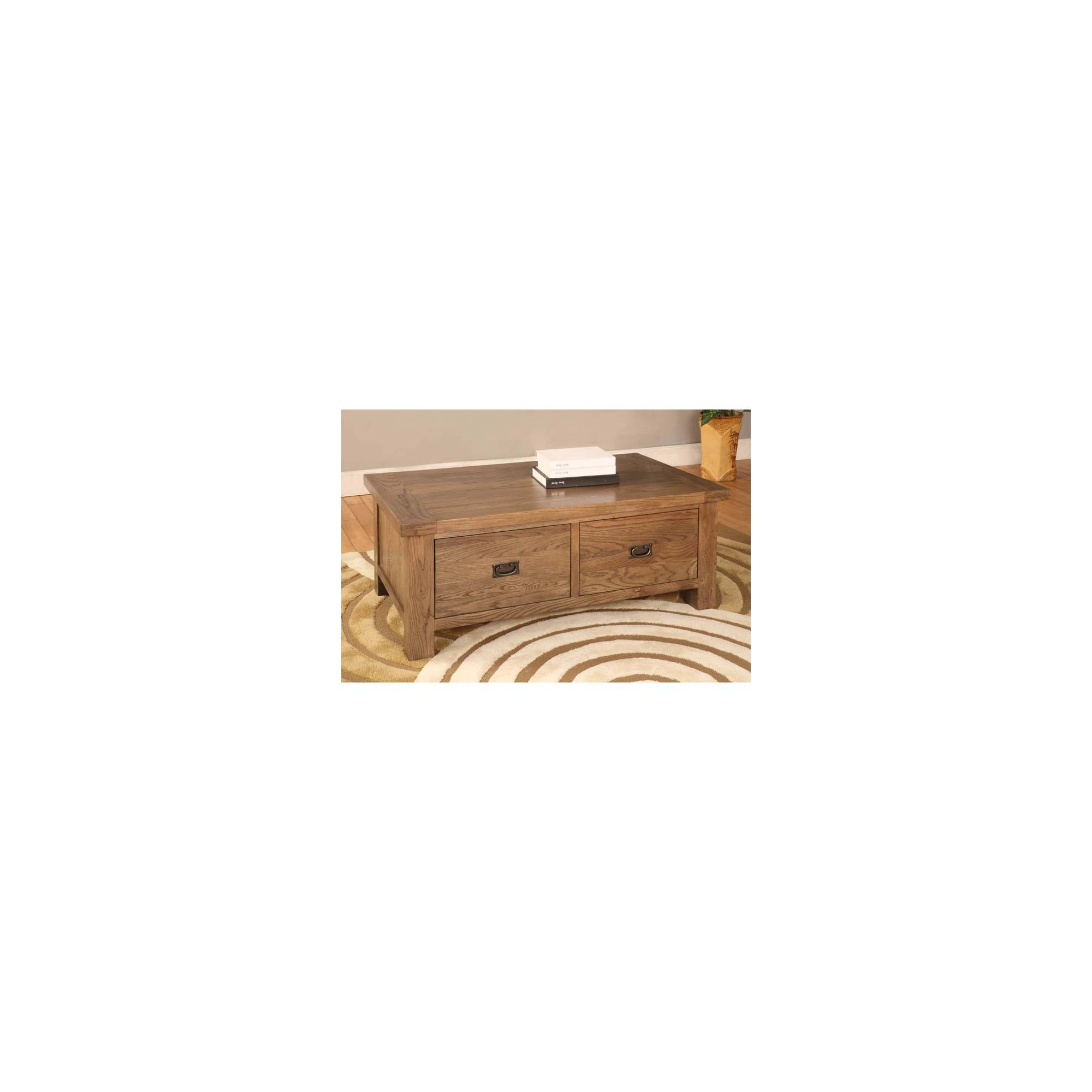 Hawkshead Brooklyn Two Drawer Coffee Table in Rich Patina at Tesco Direct