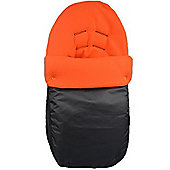 PreciousLittleOne Car Seat Footmuff (Black/Orange)