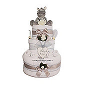 Luxury Baby Gift Unisex Zebra Nappy Cake (Three tier)