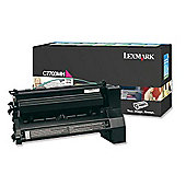 Lexmark Magenta High Yield Return Program Toner Cartridge (Yield 10,000 Pages) for C77X