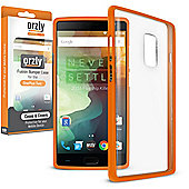 **Orzly** Fusion Case for OnePlus Two - Orange / Clear