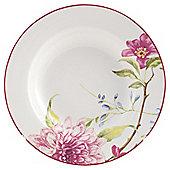 Tesco China Blossom Porcelain Soup Bowl