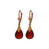 QP Jewellers 6.0ct Garnet Droplet Leverback Earrings in 14K Rose Gold