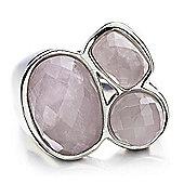 Shimla Ladies Pink Agate 3-Stone Ring - SH-203ML