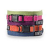 Planet Dog Flat Hemp Adjustable Dog Collar - Blue