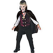 Child Gothic Vampire Fancy Dress Costume Small
