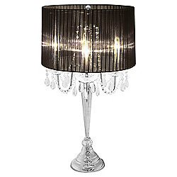 Home Essence Beaumont Four Light Table Lamp - Black