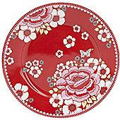 Room 7 Winter Poppy 18cm Porcelain Cake Plate in Rosa