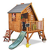 Mad Dash Crooked Cottage Tower Xtra Playhouse with Slide, 6ft x 7ft