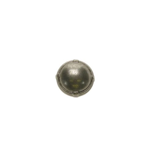 Dill Buttons 18mm Dome Rimmed Silver