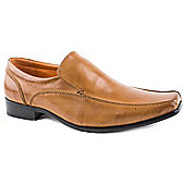 Front Mens Hardy Tan Brown Leather Formal Shoes - Tan