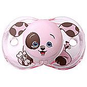 Raz-baby Keep It Kleen Pacifier Dummy Pink Puppy Design