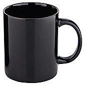 Tesco Plain Stoneware 4 Pack Mugs Black