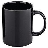 Tesco Plain Black Mug, 4 Pack