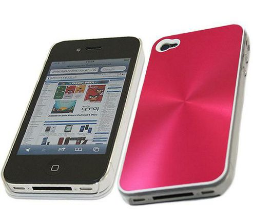 iTALKonline Imperial Hard Case Aluminium Pink - ForApple iPhone 4