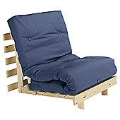 Helsinki Pine Single Futon With Mattress Blue