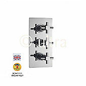 Ultra Titan Triple Shower Valve with Rectangular Plate in Chrome