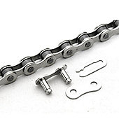 "Clarks Single Speed Anti-Rust Chain 1/2""x1/8"" x112 Links, Spring Clip Inc."