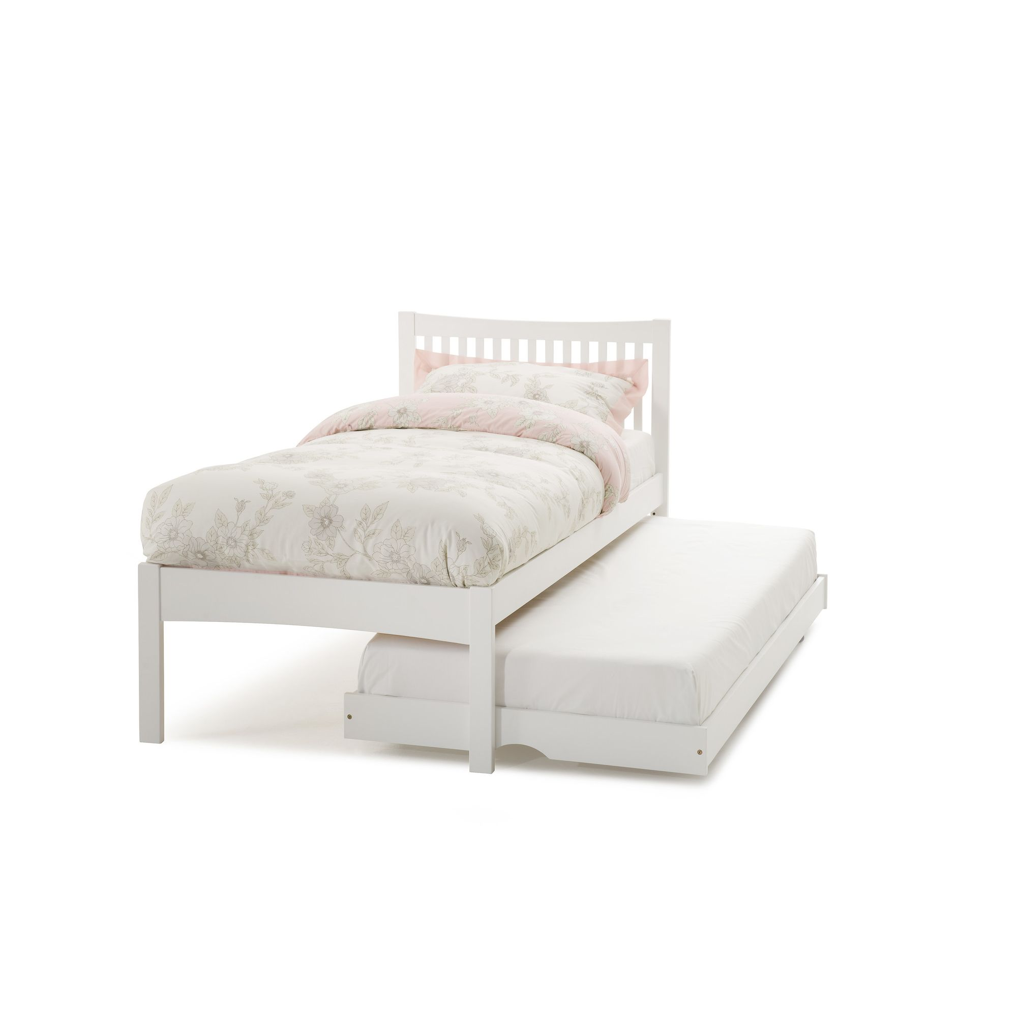 Serene Furnishings Mya Single Guest Bed - Opal White at Tesco Direct