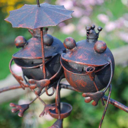 buy large king queen frog metal wind spinning ornament. Black Bedroom Furniture Sets. Home Design Ideas