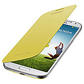 Samsung Original Flip Case for Samsung Galaxy S4 - Yellow