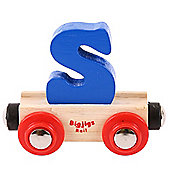 Bigjigs Rail Rail Name Letter S (Dark Blue)