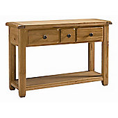 Kelburn Furniture Cherry Creek Oak Large Console Table