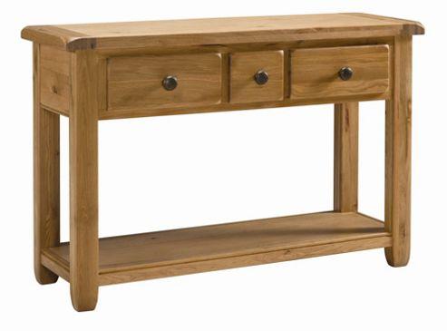 Kelburn Furniture Cherry Creek Oak Large Console Table