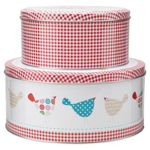 Tesco Tweet Set of 2 Cake Tins