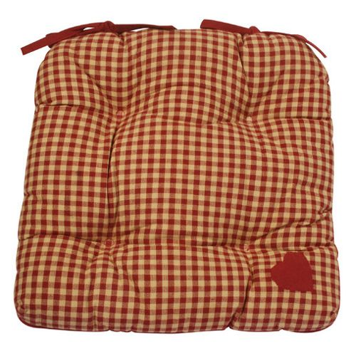 Woven Magic Country York Mini Plaid Red Chair Pad