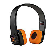 Veho Gumball Edition Bluetooth Wireless Headphones - Black/Orange