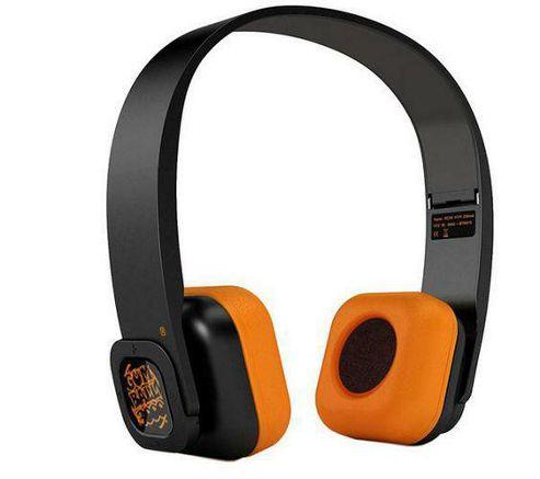 Veho Gumball Edition Bluetooth Wireless Headphones - Black/Orange
